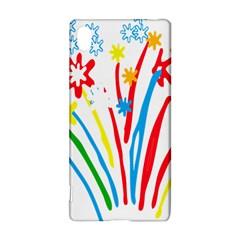 Fireworks Rainbow Flower Sony Xperia Z3+