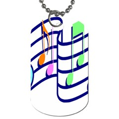 Music Note Tone Rainbow Blue Pink Greeen Sexy Dog Tag (one Side)