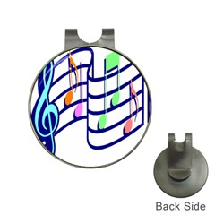 Music Note Tone Rainbow Blue Pink Greeen Sexy Hat Clips With Golf Markers
