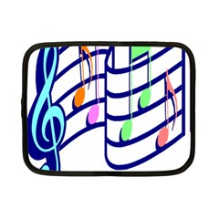 Music Note Tone Rainbow Blue Pink Greeen Sexy Netbook Case (small)