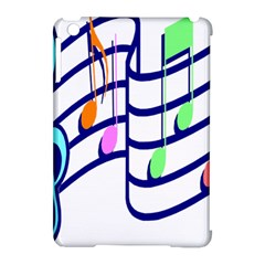 Music Note Tone Rainbow Blue Pink Greeen Sexy Apple Ipad Mini Hardshell Case (compatible With Smart Cover)