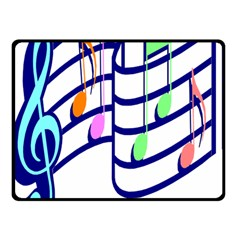 Music Note Tone Rainbow Blue Pink Greeen Sexy Double Sided Fleece Blanket (small)