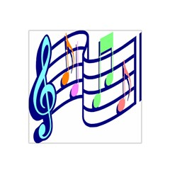 Music Note Tone Rainbow Blue Pink Greeen Sexy Satin Bandana Scarf