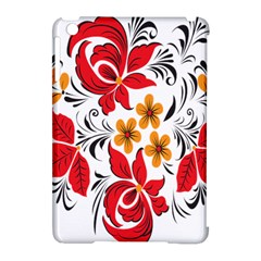 Flower Red Rose Star Floral Yellow Black Leaf Apple Ipad Mini Hardshell Case (compatible With Smart Cover)