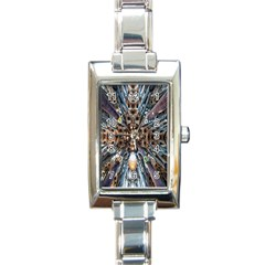 Iron Glass Space Light Rectangle Italian Charm Watch
