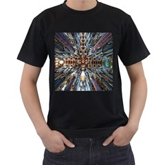 Iron Glass Space Light Men s T Shirt (black) (two Sided)