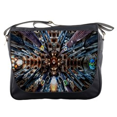Iron Glass Space Light Messenger Bags