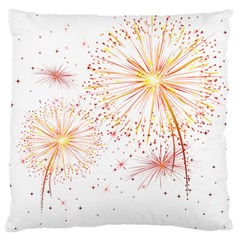 Fireworks Triangle Star Space Line Large Flano Cushion Case (two Sides)