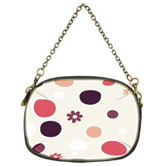 Polka Dots Flower Floral Rainbow Chain Purses (two Sides)