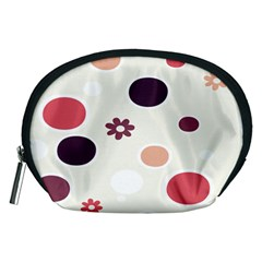 Polka Dots Flower Floral Rainbow Accessory Pouches (medium)