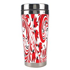 Red Flower Floral Leaf Stainless Steel Travel Tumblers