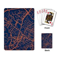 Virginia Map Art City Playing Card