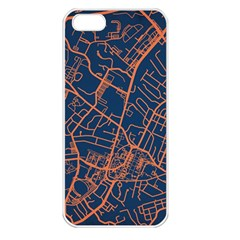 Virginia Map Art City Apple Iphone 5 Seamless Case (white)