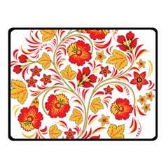 Wreaths Flower Floral Sexy Red Sunflower Star Rose Double Sided Fleece Blanket (small)