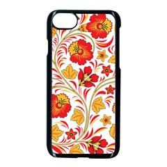 Wreaths Flower Floral Sexy Red Sunflower Star Rose Apple Iphone 7 Seamless Case (black)