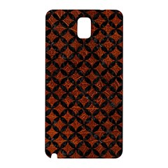 Circles3 Black Marble & Reddish Brown Leather Samsung Galaxy Note 3 N9005 Hardshell Back Case