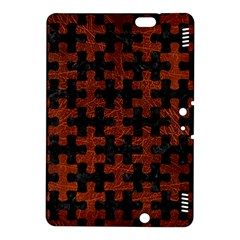 Puzzle1 Black Marble & Reddish Brown Leather Kindle Fire Hdx 8 9  Hardshell Case