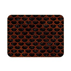 Scales3 Black Marble & Reddish Brown Leather (r) Double Sided Flano Blanket (mini)