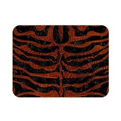 Skin2 Black Marble & Reddish Brown Leather (r) Double Sided Flano Blanket (mini)