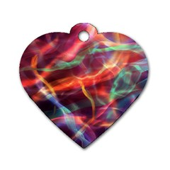 Abstract Shiny Night Lights 4 Dog Tag Heart (one Side)