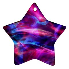 Abstract Shiny Night Lights 5 Star Ornament (two Sides)