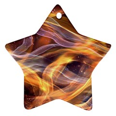 Abstract Shiny Night Lights 6 Star Ornament (two Sides)