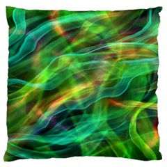 Abstract Shiny Night Lights 8 Large Flano Cushion Case (one Side)