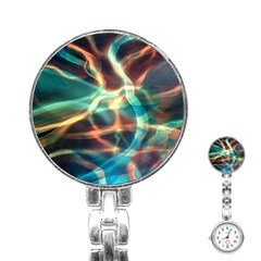 Abstract Shiny Night Lights 11 Stainless Steel Nurses Watch
