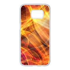 Abstract Shiny Night Lights 17 Samsung Galaxy S7 Edge White Seamless Case