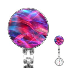 Abstract Shiny Night Lights 18 Stainless Steel Nurses Watch