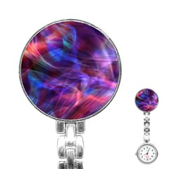 Abstract Shiny Night Lights 20 Stainless Steel Nurses Watch