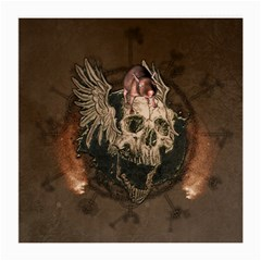 Awesome Creepy Skull With Rat And Wings Medium Glasses Cloth