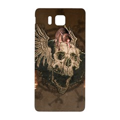 Awesome Creepy Skull With Rat And Wings Samsung Galaxy Alpha Hardshell Back Case
