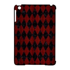 Diamond1 Black Marble & Reddish Brown Wood Apple Ipad Mini Hardshell Case (compatible With Smart Cover)