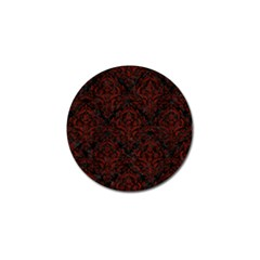 Damask1 Black Marble & Reddish Brown Wood (r) Golf Ball Marker (4 Pack)