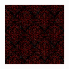 Damask1 Black Marble & Reddish Brown Wood (r) Medium Glasses Cloth