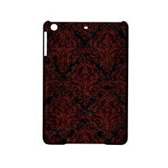 Damask1 Black Marble & Reddish Brown Wood (r) Ipad Mini 2 Hardshell Cases