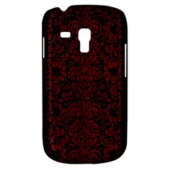 Damask2 Black Marble & Reddish Brown Wood (r) Galaxy S3 Mini
