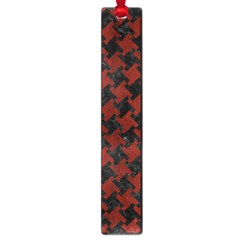 Houndstooth2 Black Marble & Reddish Brown Wood Large Book Marks
