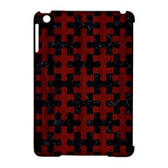 Puzzle1 Black Marble & Reddish Brown Wood Apple Ipad Mini Hardshell Case (compatible With Smart Cover)
