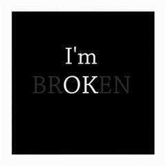 I Am Ok   Broken Medium Glasses Cloth