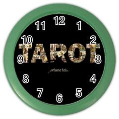 Tarot Fortune Teller Color Wall Clocks