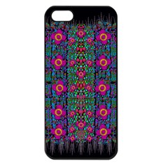Flowers From Paradise Colors And Star Rain Apple Iphone 5 Seamless Case (black)