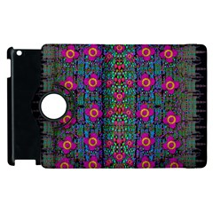 Flowers From Paradise Colors And Star Rain Apple Ipad 3/4 Flip 360 Case