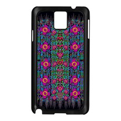 Flowers From Paradise Colors And Star Rain Samsung Galaxy Note 3 N9005 Case (black)