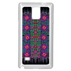 Flowers From Paradise Colors And Star Rain Samsung Galaxy Note 4 Case (white)