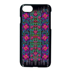 Flowers From Paradise Colors And Star Rain Apple Iphone 7 Seamless Case (black)