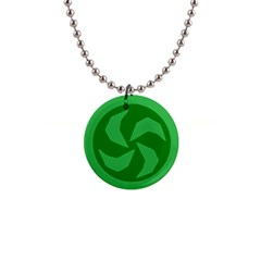 Forest 1  Button Necklace