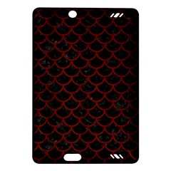 Scales1 Black Marble & Reddish Brown Wood (r) Amazon Kindle Fire Hd (2013) Hardshell Case