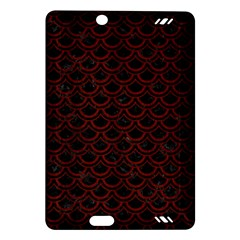 Scales2 Black Marble & Reddish Brown Wood (r) Amazon Kindle Fire Hd (2013) Hardshell Case